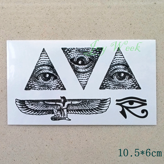 Waterproof Temporary Tattoo sticker ancient greece all seeing eye of God totem tattoo Water Transfer fake tattoo flash tattoo