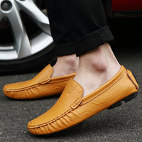 CIMIM Mens Shoes Genuine Leather Handmade Men Loafers Dress Men Flats Male Driving Shoes Mens Shoes
