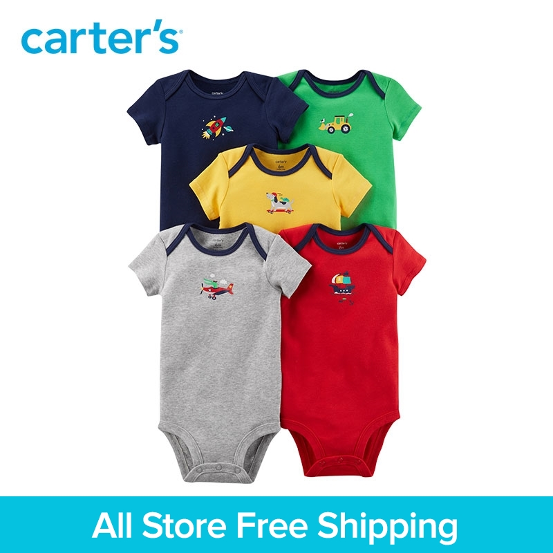 5pcs sweet vehicle prints Cotton Expandable shoulders bodysuits sets Carter's baby boy Summer clothing sets 126H322 new original remote control for optoma hd26 gt1080 gt1070x hd141x dh1008 hd37 hdf536 hdf537st hd200d projectors