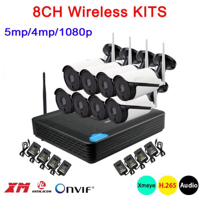 5mp/4mp/1080p White 36pcs Infrared ICsee APP Waterproof Audio H.265 + 25fps 8 Channel WIFI Wireless IP Camera kits Free Shipping5mp/4mp/1080p White 36pcs Infrared ICsee APP Waterproof Audio H.265 + 25fps 8 Channel WIFI Wireless IP Camera kits Free Shipping