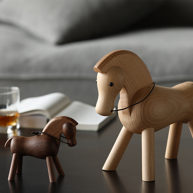 home decoration accessories walnut wood horse decoracao para casa decor decoracion hogar moderno  maison vintage decor figurine 5