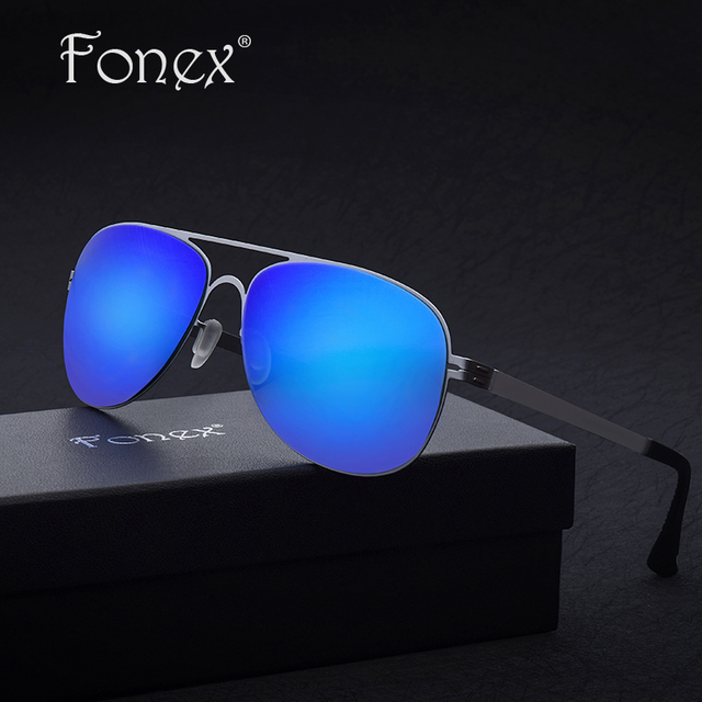 2017 FONEX New Hot no Screw Superstar Elastic My Fishing Aviation Sunglasses Germany Design Men Ray Aviador Sun Glasses ber