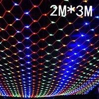 2 m x 3 m 204 Led 8 modes 220 V super heldere netto mesh string licht xmas kerst licht nieuwjaar tuin Gazon bruiloft vakantie verlichting