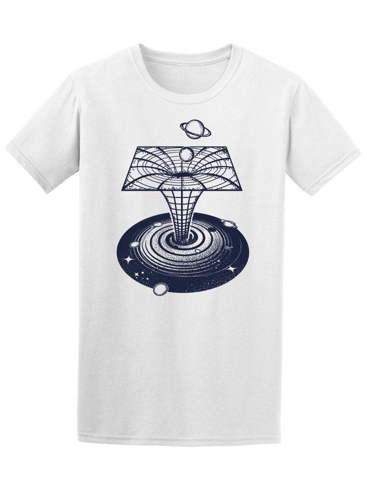 "Black Hole Absorbing Planets Men's Tee ""Short Sleeves Cotton Fashion T Shirt Free Shipping """