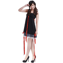 Guilty Crown Cosplay Yuzuriha Inori Women's Dress Braces Skirt Sling Dress Costume стоимость