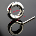 Stainless steel penis ring ball stretcher steel cock ring male time delay sex ring sex products for men penis cockring
