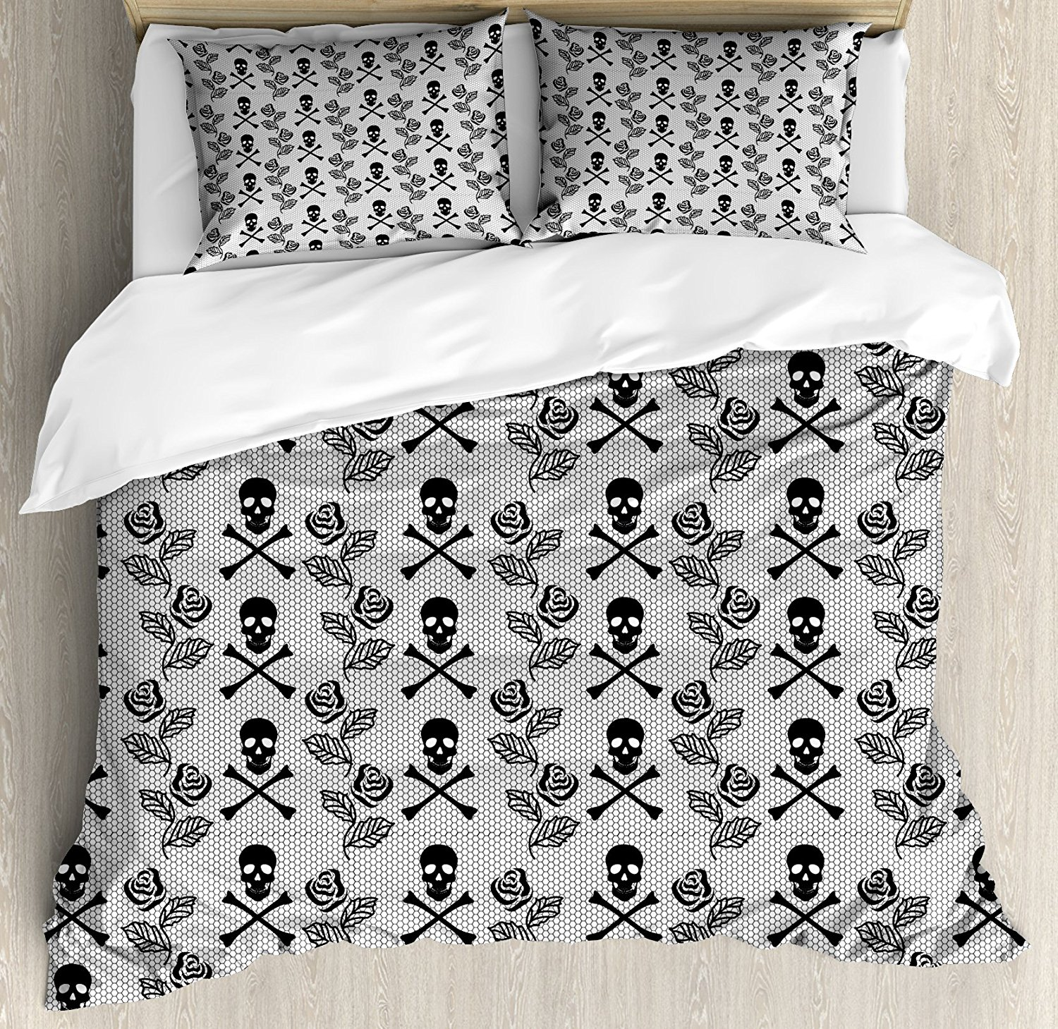 Gothic Duvet Cover Set Monochrome Lace Style Pattern Romantic ... on gothic style bedroom ideas, goth bedroom ideas, gothic bedroom organization ideas, gothic victorian bedroom, gothic bedroom lighting, romantic gothic bedroom paint ideas, bohemian bedroom ideas, gothic bedroom accessories, gothic bedroom diy, gothic bedroom furniture, gothic interior ideas, gothic inspired bedroom, gothic bedroom ideas for teens, black light bedroom ideas, gothic kitchen ideas, gothic painting ideas, gothic window treatments ideas, gothic master bedroom ideas, gothic bedroom art, gothic bedroom themes,