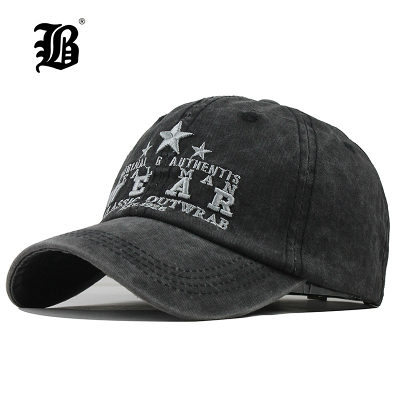 Men Hats Baseball-Caps Snapback Sports-Cap Washed Casquette Embroidery Women FLB Cotton