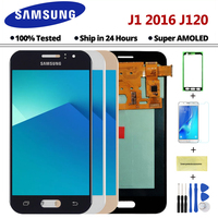 AMOLED J120 LCD For Samsung Galaxy J1 2016 J120F J120DS J120G J120M J120 LCD Display Touch Screen Digitizer Assembly Replacement