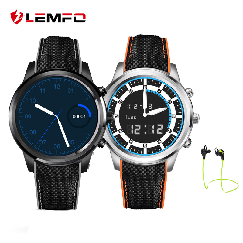 LEMFO LEM5 Smart Watch Phone Android 5.1 MTK6580 Quad Core 1GB+8GB Pedometer Heart Rate Monitor Smartwatch for Android IOS Phone no 1 d6 1 63 inch 3g smartwatch phone android 5 1 mtk6580 quad core 1 3ghz 1gb ram gps wifi bluetooth 4 0 heart rate monitoring