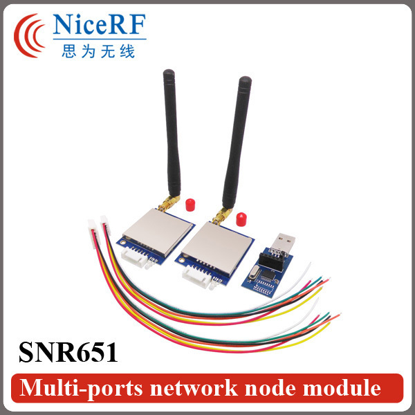 2sets SNR651 433MHz TTL Interface 3km Distance Range 27dBm Network Node Module|500mW 470/868/915mhz RF Transmitter And Receiver