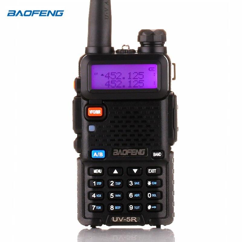 Walkie Talkie Rádio em Dois Sentidos BaoFeng UV-5R versão de atualização baofeng uv5r 128CH 5 w VHF UHF 136-174 mhz & 400-520 mhz
