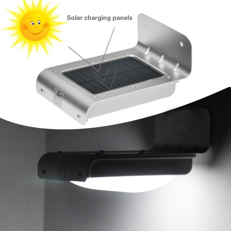 Practical Solar Power Lamp Infrared Body Motion Light Sensor Lamp Energy Saving for Outdoor Emergency Lighting Solar Wall Lamp