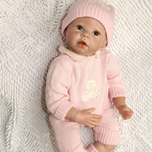 Handmade Lifestyle Lifelike Silicone Reborn Baby Doll With Cute Pink Clothes Best Educational Toys For Kids Cheap Reborn Babies