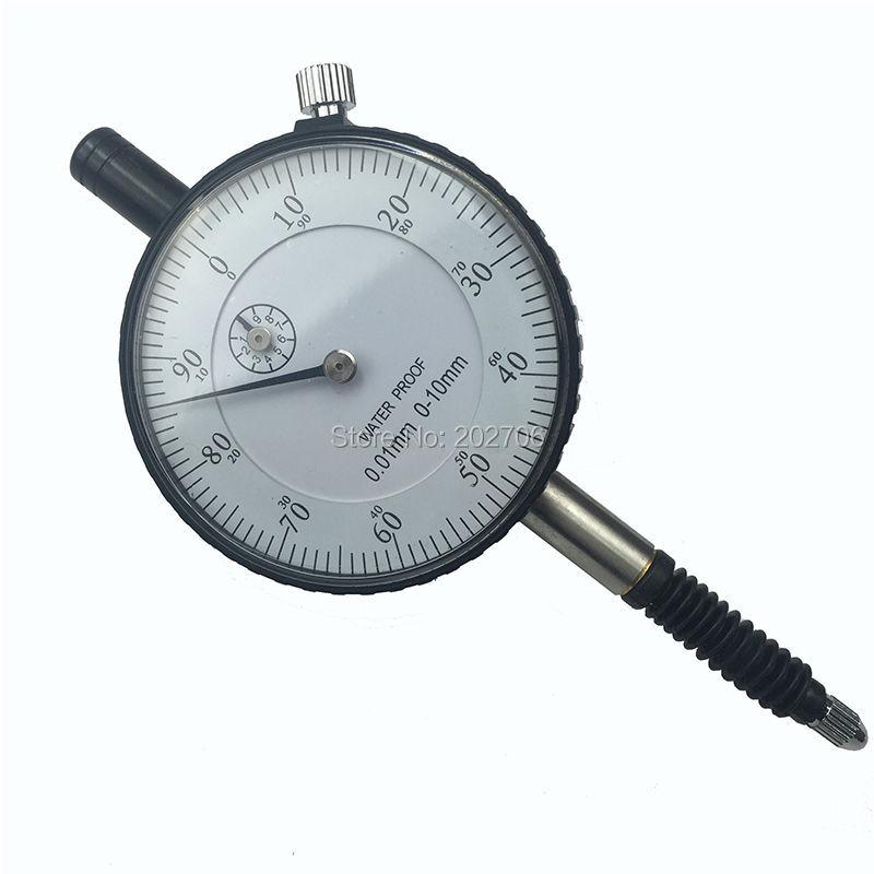 Высокое качество 0-10 мм 0,01 мм водонепроницаемый циферблат индикатор набора манометр точность Индикатор инструмент с ушным крюком