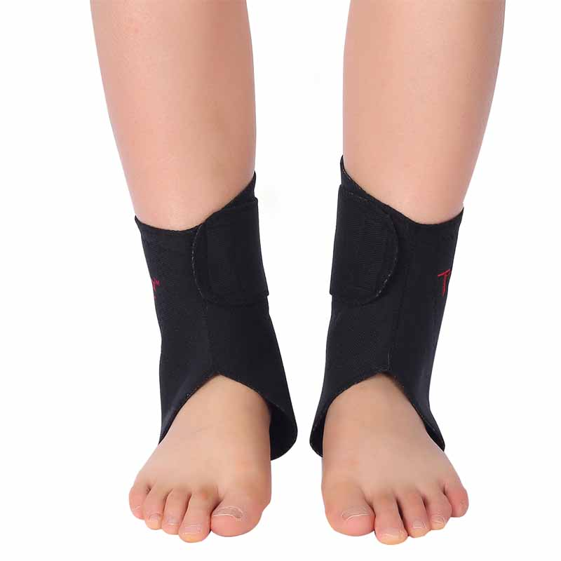 Tcare 1Pair Tourmaline Self heating Far Infrared Magnetic Therapy Ankle Care belt Support Brace Heel Massager Foot Health Care 4