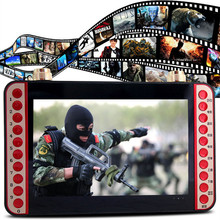11 inch portable EVD DVD player VCD CD MP3/4 SD USB Speaker FM video game machine microphone singing machine with TV Speaker
