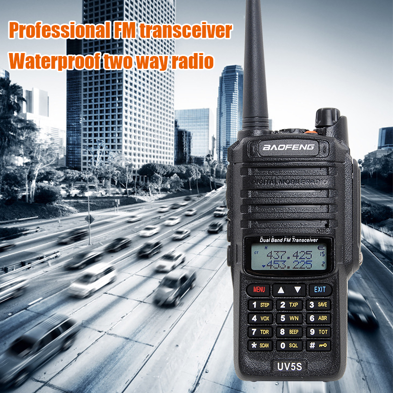 Waterproof Baofeng UV 5S walkie talkie strong signal big power radio comunicador 10 km  dual band long distance hunsting radio-in Walkie Talkie from Cellphones & Telecommunications