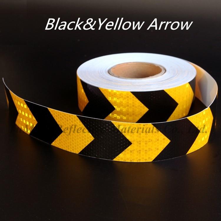 Car Sticker Arrow Tape Strip  Night Safety Self-adhesive Reflective Strips