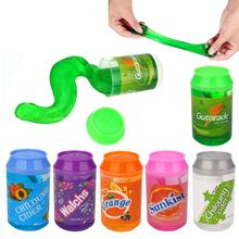 6 Colors Crystal Soda Slime Putty Cute cans of clay colors mud DIY transparent jelly Soft Magic Clay blowing bubbles Slime Toy