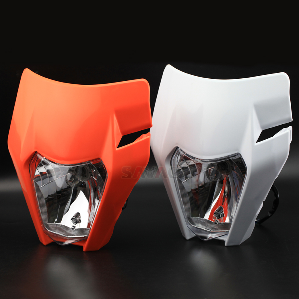 цена на Headlight Mask For KTM EXC SIX-DAYS 125 250 300 450 500 /EXC-F SIX-DAYS 350 Motorcycle Accessories Headlamp Assembly 12V Light