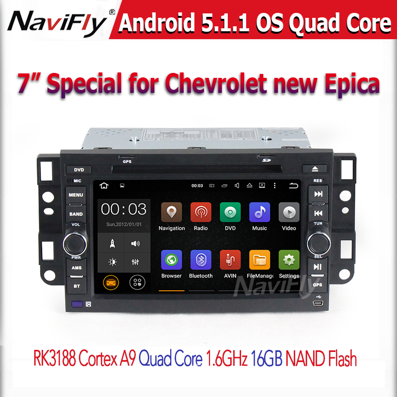 Quad Core Android 5.1.1 Car DVD Player For Chevrolet Aveo Epica Captiva Spark Optra Tosca Kalos Matiz Radio GPS Stereo free ship