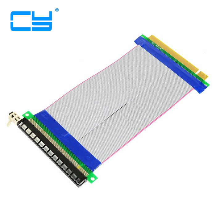 PCI-E 16X to 16X riser card adapter extender cable PCI E 16 X Pci Express Flexible riser 20CM 1X 4X 8X 16X pci e pci express to pci adapter card green white