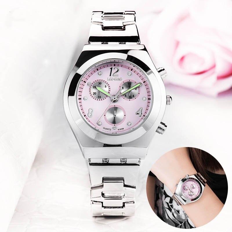 Relojes marca elegante reloj Casual de cuarzo impermeable de mujeres regalo relojes de correa de acero inoxidable hodinky Montre Femme