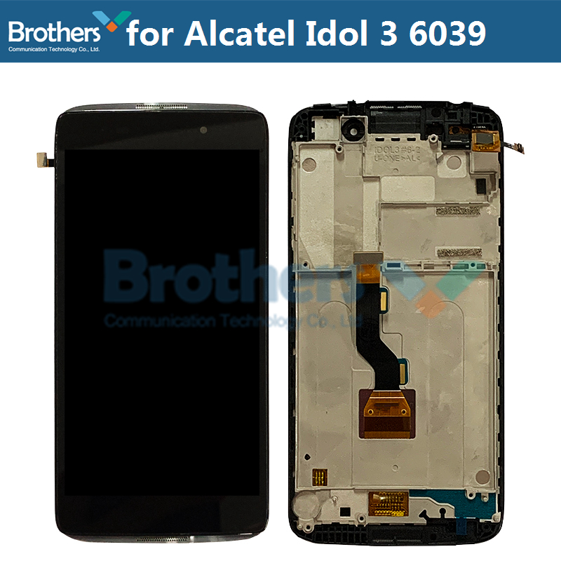 LCD Screen For Alcatel Idol 3 6039 6039A 6039K 6039Y LCD Display With Touch Screen Digitizer Assembly With Frame Replacement Top (1)