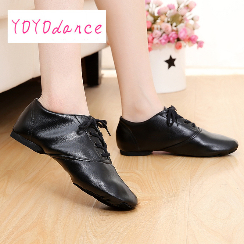 18 25cm Pu Leather Low Top Mens Jazz Shoesjazz Shoes Women