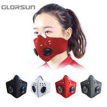 GLORSUN шлем модные пыльцы pm2.5 воздушный фильтр Байкер половины лица n95 смога против пыли запах туман моющиеся n99 маска