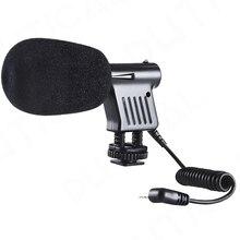 PHTICAL 3.5mm Mikrofon Micrófono de Condensador para Canon Nikon Sony Penta Direccional Vídeo DSLR Cámara DV Videocámaras Micro teléfono