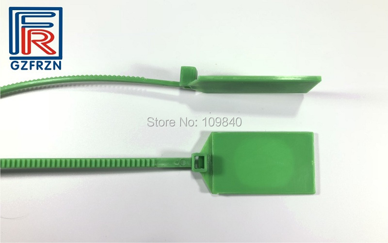 Купить с кэшбэком 100pcs ISO14443A NFC Plastic RFID Security ZIP tie Seal tag NTAG213 chip for all NFC phone Identificate access control