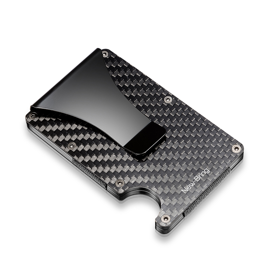 100% Real Carbon Fiber Slim Card Holder Wallet With RFID Anti-thief
