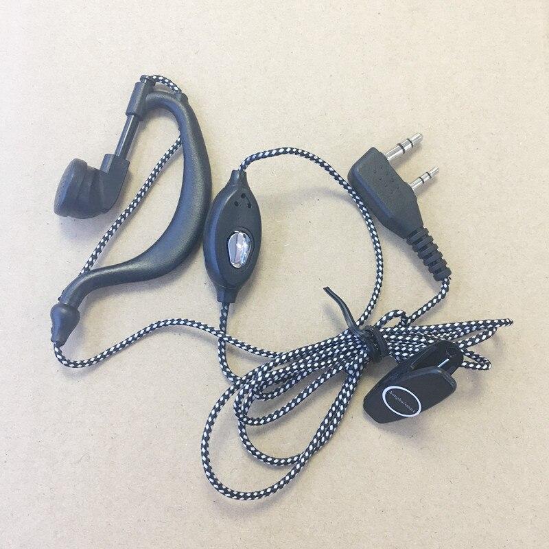 Fiable en tricot câble casque K plug 2 broches pour Kenwood Baofeng TYT Wouxun Puxing Linton Quansheng etc talkie walkie