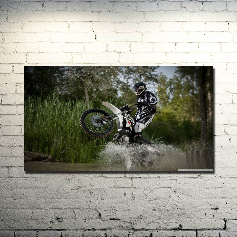Dirt Cheap Home Decor: MOTOCROSS DIRT BIKE JUMP Art Silk Poster 13x24 20x36