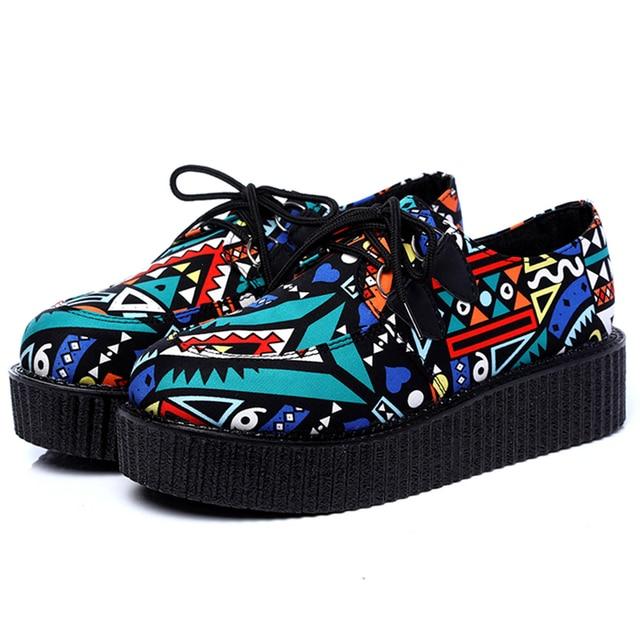 Zapatos mujeres plataforma plana, zapatos casual, colores negro rojo.