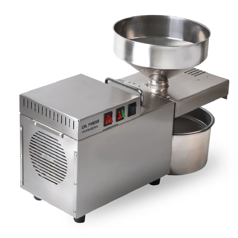 Jamielin Stainless Steel Oil Press Machine Oil Expeller Sunflower Oil Extractor Commercial Oil Pressing Automatic Home Use