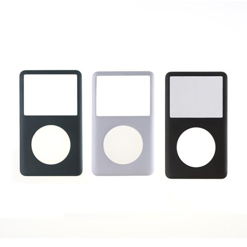 For iPod Classic 80GB 120GB 160GB 6TH 7TH Gen Black  / Gray / Silver Faceplate Front Cover Housing for ipod classic 6th 7th front cover silver panel faceplate fascia housing cover
