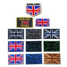 1PC AHYONNIEX moda 3D Bordado Remendo Sew Em Roupas diferentes Bandeira do REINO UNIDO Inglaterra Braçadeira Mochila Adesivo DIY Applique