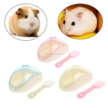 Pet Bath Supplies Hamster Mice Rat Plastic Bathroom Cage Box Toy Toilet with Sand Shovel  YY56