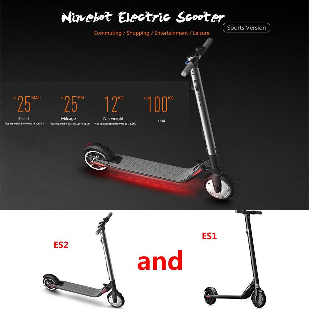 Ninebot ES2/ES1 Scooter calcio Smart Scooter Elettrico Pieghevole LongBoard Hoverboard Skateboard Scooter Elettrico 5.2Ah Batteria APP