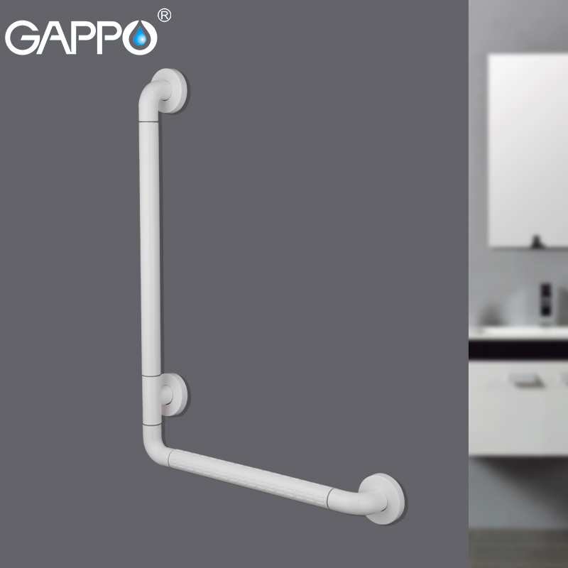 GAPPO Grab Bar Series white Bathroom Safety Rail Anti-slip Trapleuning Bathtub Handrail stainless steel bathroom Accessories