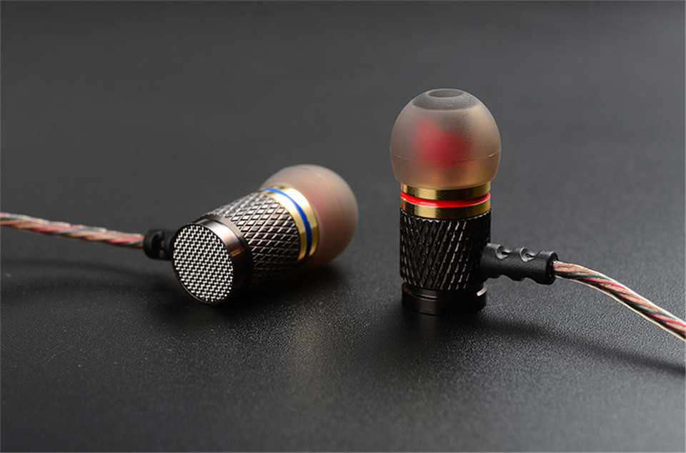 KZ ED Special Edition Gold Plated Housing Earphone Double Magnets Drivers Noise Isolating HD HiFi Earbuds High Sensitivity