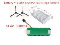 NI MH 14 4V 3500mAh Vacuum Cleaner Battery Hepa Filter Side Bursh For Dibea Panda X500