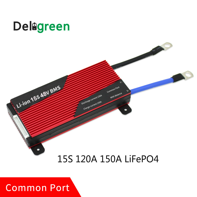 Deligreen 15S 120A 150A 48V PCM/PCB/BMS for LiFePO4 battery pack 18650 Lithion Ion Battery Pack protection board
