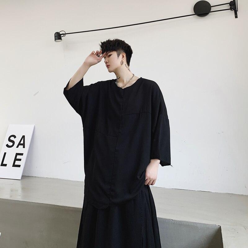 Stile giapponese T Shirt Da Uomo Magliette e camicette Magliette Estate Gotica Nero Ro Buio Tshirt Streetwear Chic Camisetas Hombre Normcore Tshirt - 2