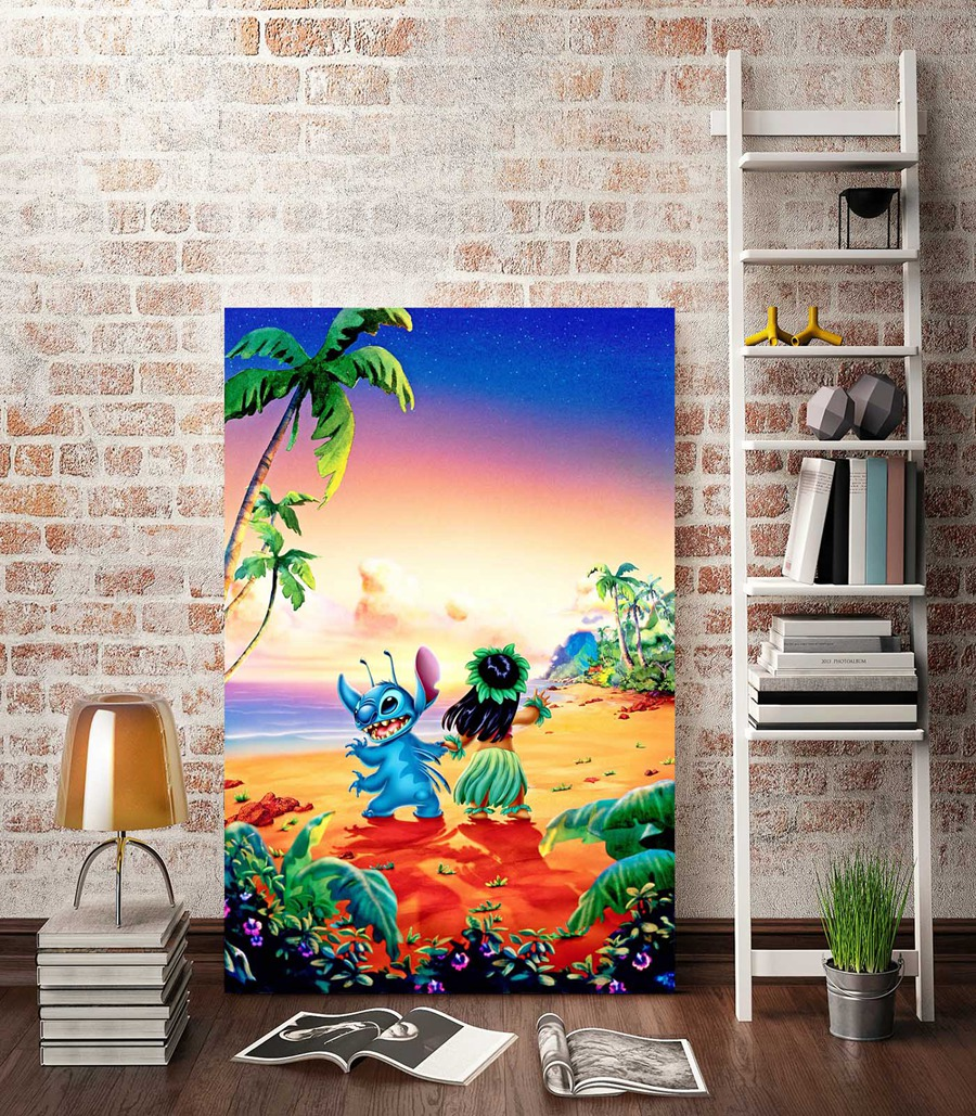 Wonderful A956 Lilo U0026 Stitch Childrenu0027s Cartoon Film,HD Canvas Print Home Decoration  Living Room Bedroom Wall Pictures Art Painting In Painting U0026 Calligraphy  From ...