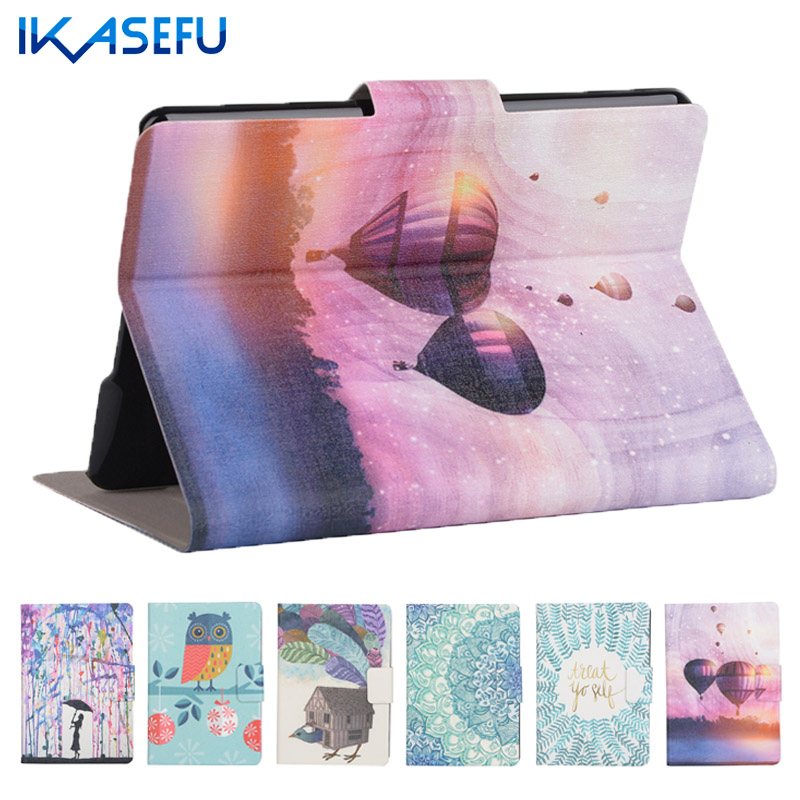 IKASEFU PU Leather case cover for new kindle 2016 8th generation funda Coque for amazon kindle 8 Generation 2016 with Card Slots