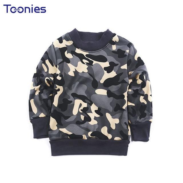 Толстовка для детей новые зимние детские повседневные пуловеры с длинным рукавом Детский Пуловер кашемировый топ камуфляж печати Одежда Юнисекс теплые
